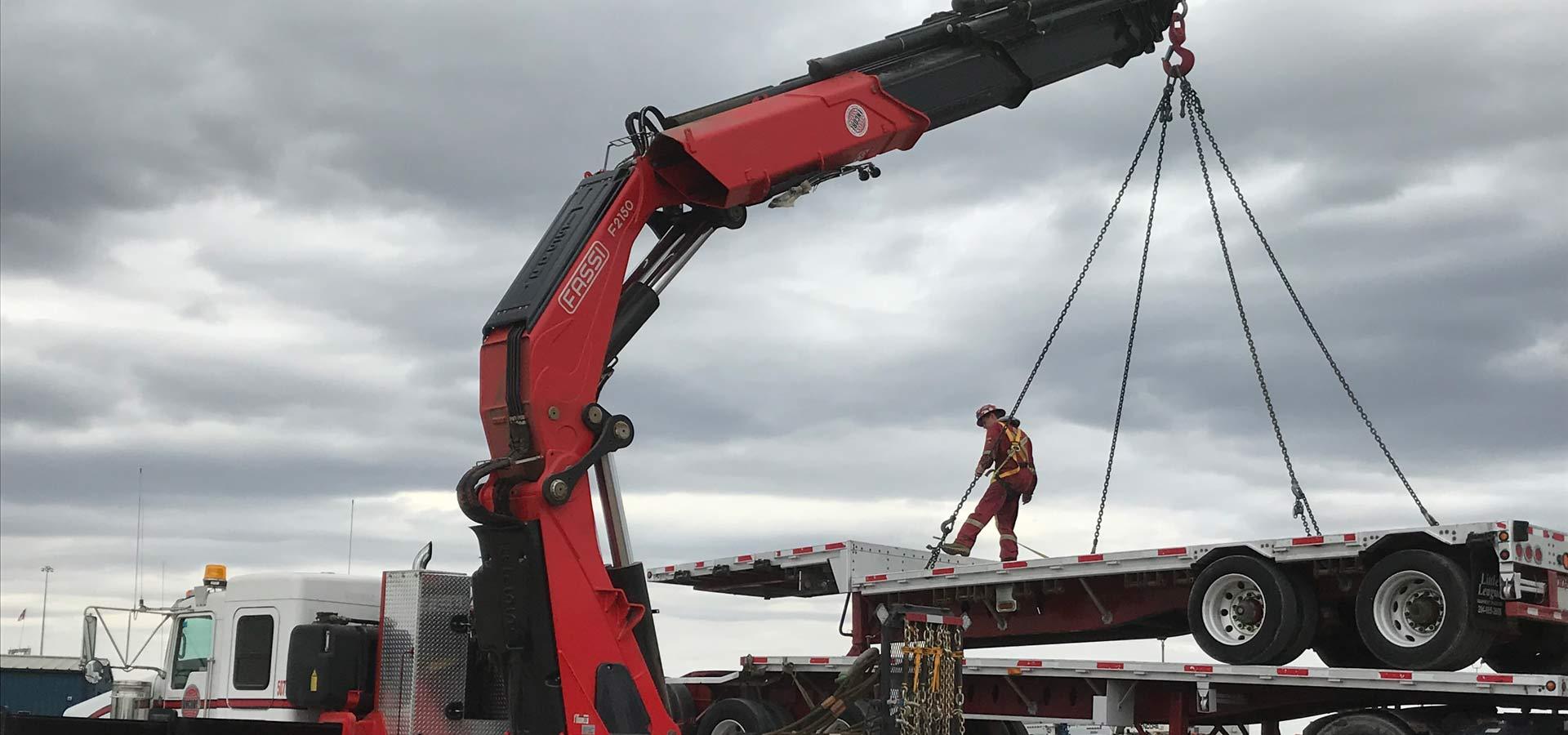 Cranes, Picker Trucks, Transportation Services in Edmonton